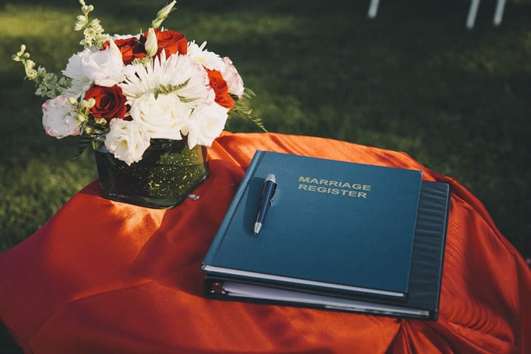 Marriage register book
